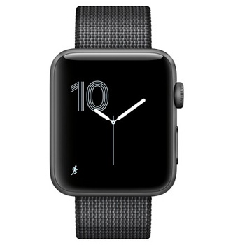 Apple Watch Series 2 42mm Aluminum Space Gray Woven Nylon