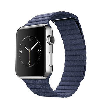 Apple Watch Midnight Blue Leather Loop 42mm
