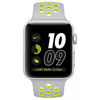 Apple Watch Nike+ 38mm Silver Aluminum Case with Silver/Volt Sport Band