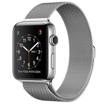 Apple Watch Series 2 42mm Stainless Steel Case Milanese Loop