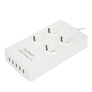 Orico 4 AC Outlets with 5 USB Port Charger HPC-4A5U-EU