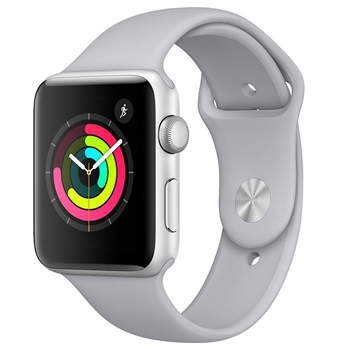 Apple Watch Series 3 42mm Silver Aluminum Case with Fog Sport Band