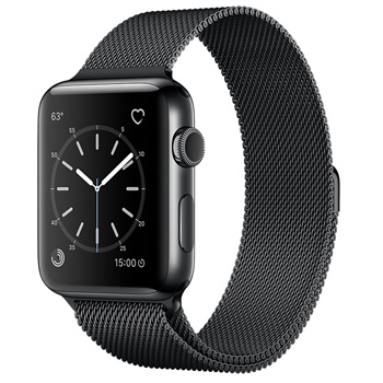 Apple Watch Series 2 42mm Stainless Steel Case Milanese Loop Space Gray
