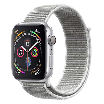 Apple Watch Series 4 GPS 44mm Silver Aluminum Case with Seashell Sport Loop Band