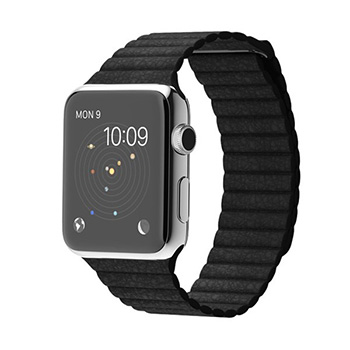 Apple Watch Black Leather Loop 42mm