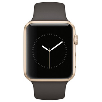 Apple Watch Series 1 38mm Gold Aluminum Case with Cocoa Sport Band
