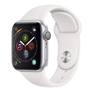 Apple Watch Series 4 40mm Silver Aluminum Case With White Sport Band