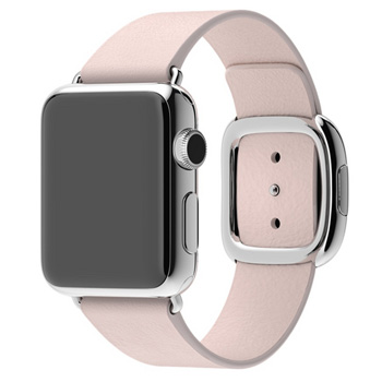 Apple Watch Series 1 38mm Stainless Steel Case with Soft Pink Modern Buckle