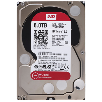 Western Digital Red HDD 6TB WD60EFRX