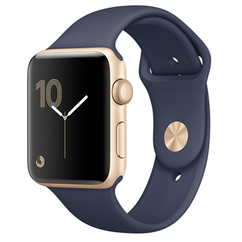Apple Watch Series 1 42mm Gold Aluminum Case with Midnight Blue Sport Band