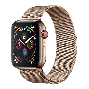 Apple Watch Series 4 40mm Gold Aluminum Case with Gold Milanese Loop