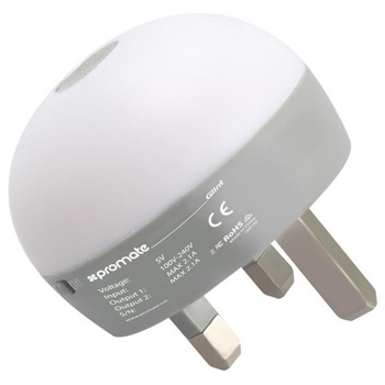 Promate Glint Wall Charger and Night Lamp