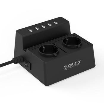 Orico 2 AC Outlets with 5 USB Port Charger ODC-2A5U-EU