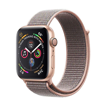 Apple Watch Series 4 44mm Gold Aluminum Case with Gold Sand Sport Loop Band