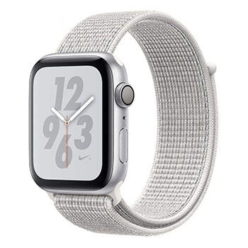 Apple Watch Serie 4 GPS Nike 44mm Silver Aluminum Case with Summit White Nike Sport Loop