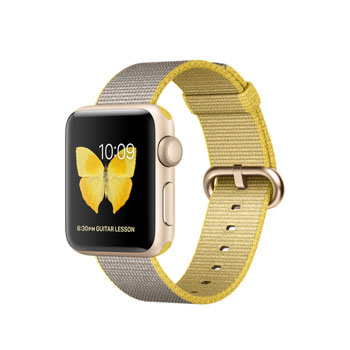 Apple Watch 2 Gold with Yellow Light Gray Woven Nylon 38mm
