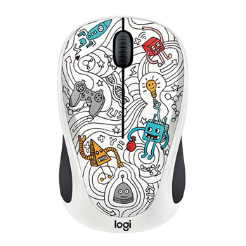 Logitech M238 Doodle Techie White Wireless Mouse