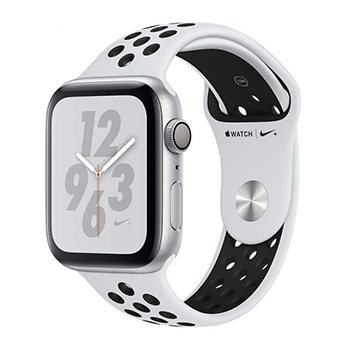 اپل واچ سری 4 | Apple Watch Series 4 44mm  Silver Aluminum Case with Pure Platinum|Black Nike Sport Band
