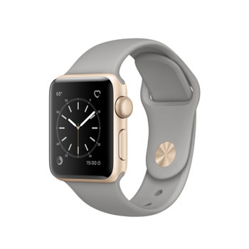 Apple Watch 2 Gold Aluminum Case with Concrete Sport Band 38mm