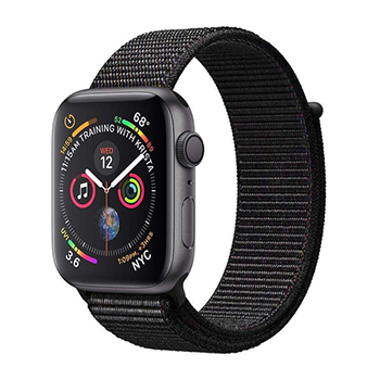 Apple Watch Series 4 44mm Space Gray Aluminum Case with Black Sport Loop Band