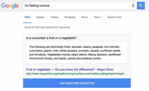 I'm feeling curious