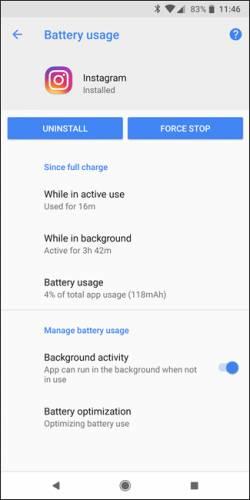 مصرف باتری در اپلیکیشن ها