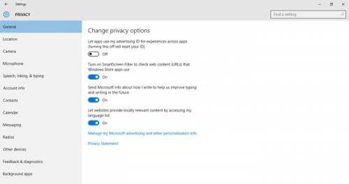 محافظت از حریم خصوصی در ویندوز 10 - شخصی سازی تبلیغات
