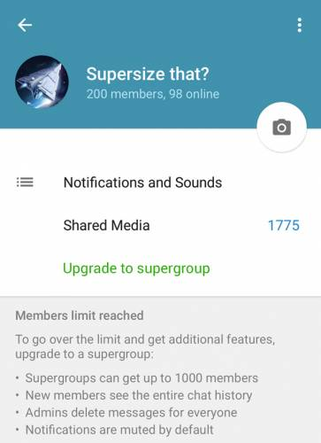 گروه های تلگرام، هزار نفره شد!