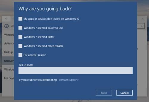 نحوه حذف ویندوز10 و بازگشت به ویندوز 7 یا 8.1