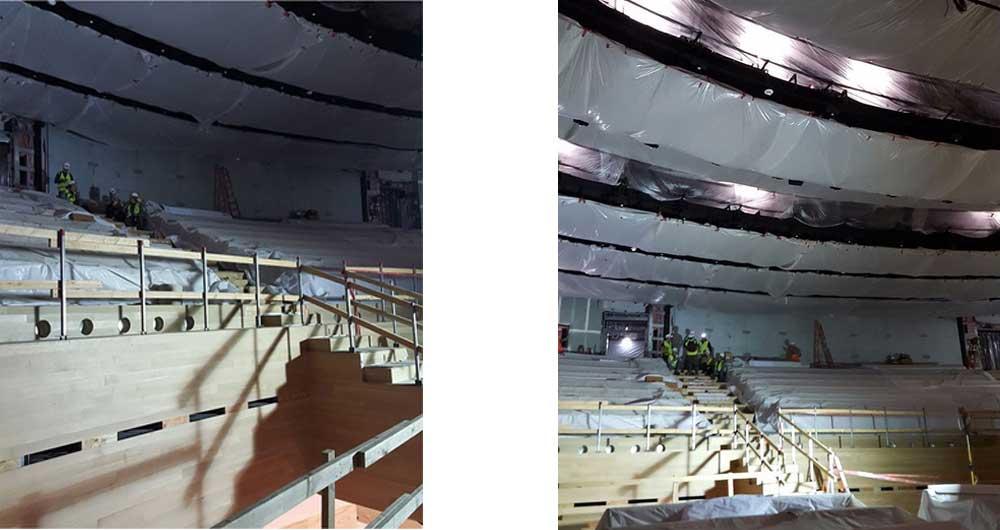 مراحل ساخت سالن استیو جابز