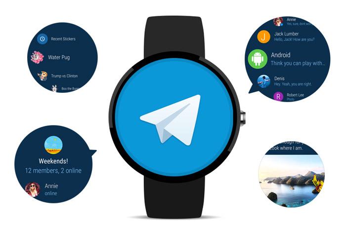 تلگرام برای ساعتهای هوشمند اندرویدی منتشر شد